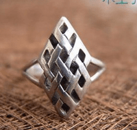 Tibetan Endless Knot Ring