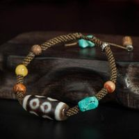 Tibetan Old Eight Eyed DZI Bracelet - sold out