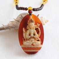 Tibetan Agate Green Tara Necklace