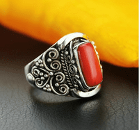 Tibetan Handmade Coral Ring - Sold Out