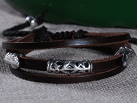 Tibetan Leather Bracelet - Sold Out