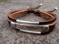 Tibetan Leather OM Mantra Bracelet - Sold Out