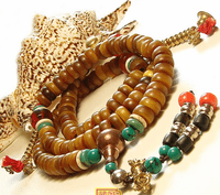 Tibetan Old Antelope Horn 108 Beads Mala - Sold Out