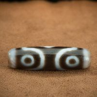 Tibetan Old Three Eyed DZI Bead