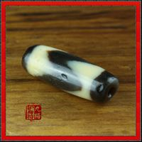 Genuine Old Tibetan Tiger-teeth DZI Bead
