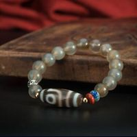 Genuine Tibetan Old Two Eyed Bead Bracelet - Sold out