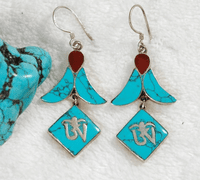 Tibetan OM Symbol Earrings