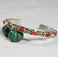Tibetan 925 Silver Red Coral Bracelet - Sold Out