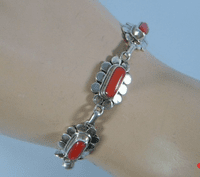 Tibetan Red Coral Chain Bracelet - Sold Out