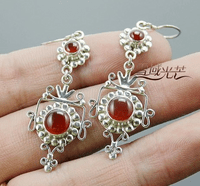 Tibetan Sterling Charming Earrings