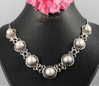 Tibetan Sterling Pearl Necklace - Sold Out