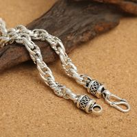 Tibetan Sterling Silver Men's Necklace