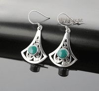Tibetan Sterling Turquoise Earrings