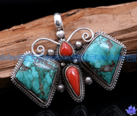 Turquoise Butterfly Pendant - Sold out