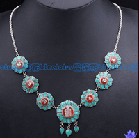 Tibetan Turquoise OM Mantra Necklace  - Sold Out