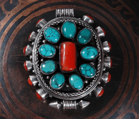 Turquoise Coral Gau Pendant- Sold Out