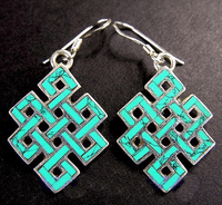 Turquoise Endless Knot Earrings