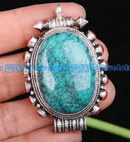 Turquoise Ghau Prayer Box Pendant - Sold Out