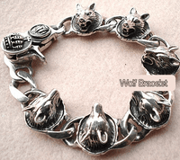 Wolf Head Bracelet  - Sold out