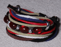 Wrap Leather Beads Bracelet - Sold Out