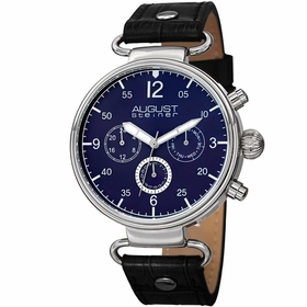August Steiner AS8131BKBU  Mens Quartz Watch