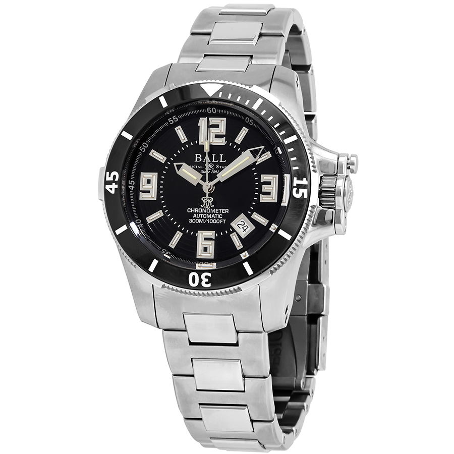 Ball Engineer Hydrocarbon Ceramic XV Automatic Black Dial Men's Watch