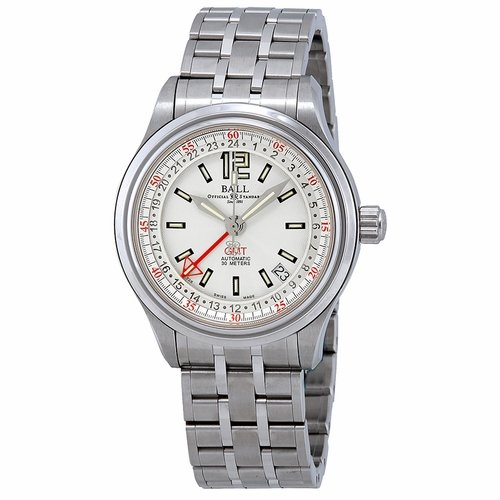 Ball GM1038D-SJ-WH Trainmaster GMT Mens Automatic Watch