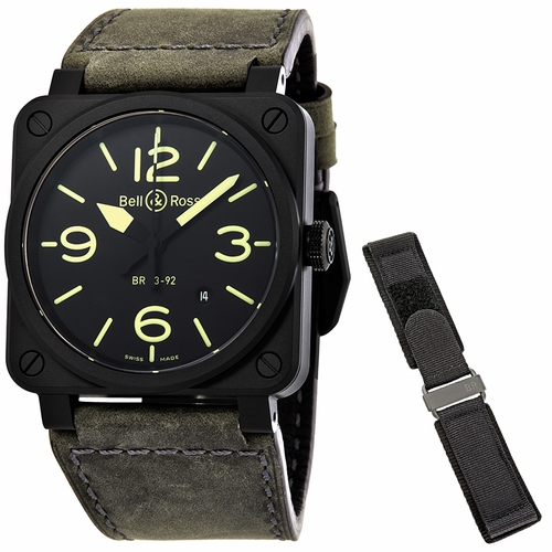 Bell and Ross BR0392-BL3-CE/SCA Nightlum Mens Automatic Watch