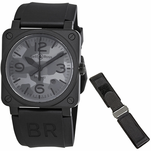 Bell and Ross BR0392-CAMO-CE/SRB Aviation Mens Automatic Watch