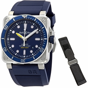 Bell and Ross BR0392-D-BU-ST/SRB Diver Mens Automatic Watch