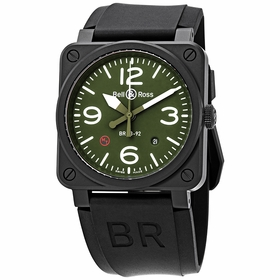 Bell and Ross BR0392-MIL-CE Avaition Mens Automatic Watch