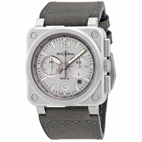 Bell and Ross BR0394-GR-ST/SCA Horlum Mens Chronograph Automatic Watch