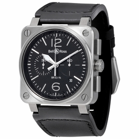 Bell and Ross BR0394-STEEL2 Aviation Mens Chronograph Automatic Watch