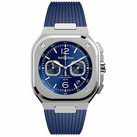 Bell and Ross BR05C-BU-ST/SRB BR 03-93 Mens Chronograph Automatic Watch