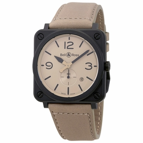 Bell and Ross BRS-Desert Type Aviation Desert Type Mens Quartz Watch