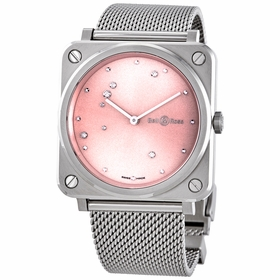 Bell and Ross BRS-EP-ST/SST Pink Diamond Eagle Ladies Quartz Watch