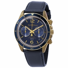 Bell and Ross BRV294-BLU-BR/SCA Aeronavale Mens Chronograph Automatic Watch