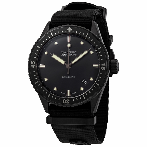 Blancpain 5000-0130-NABA Fifty Fathoms Mens Automatic Watch