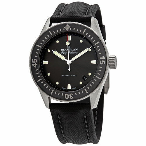 Blancpain 5100B 1110 B52A Fifty Fathoms Bathyscaphe Mens Automatic Watch