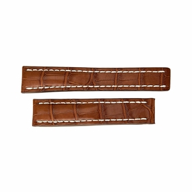 Breitling Brown Strap with White Stitching 22-20mm