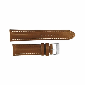 Breitling Brown Leather Strap Stainless Steel Tang Buckle 20-18mm