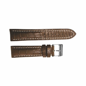 Breitling Brown Strap Stainless Steel Tang Buckle 22-20mm