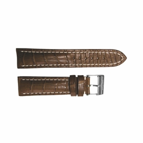 Breitling Brown Strap Stainless Steel Tang Buckle 24-20mm