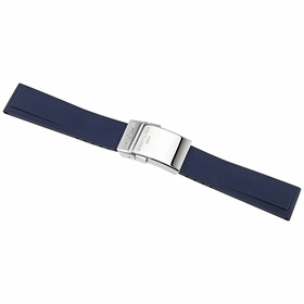 Breitling Diver Pro Blue Rubber Watch Band Strap with a Stainless Steel Deployment Buckle