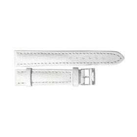 Breitling White Leather Strap Stainless Steel Tang Buckle 16-14mm