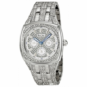 Bulova 96C002 Crystal Mens Chronograph Quartz Watch