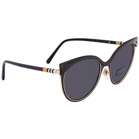 Burberry BE3096 126287 Tubular Check Ladies  Sunglasses