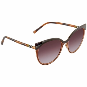 Burberry BE3096 126390 TUBULAR CHECK Ladies  Sunglasses