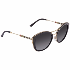 Burberry BE4251Q-30018G-53 Leather Check Collection Ladies  Sunglasses