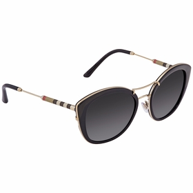 Burberry BE4251Q-3001T3-53 Leather Check Collection Ladies  Sunglasses